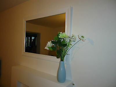 Gorgeous Large White over Mantel/ Hallway/ Fireplace/ Wall / Shabby Chic Mirror