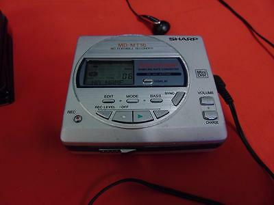 Sharp Mini Disc Recorder/Player MD- MT16 With Discs