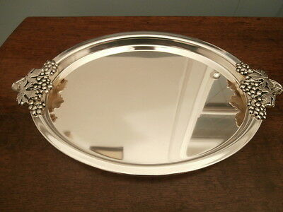 Oval silver plate Tray