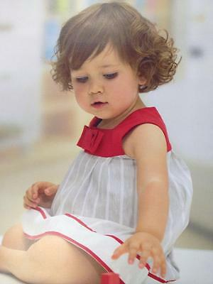 Tutto Piccolo Grey/red/white Dress *8 Yrs* Immaculate Condition*