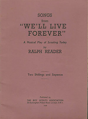 Songs From We'll Live For Ever Ralph Reader Boy Scout Musical Play Of Scouting