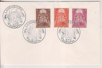 LUXEMBOURG - 1957. Europa - Set of 3 on Plain, Unaddressed FDC.  Cat 75 Euros