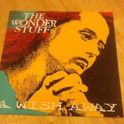 """12"""" Vinyl Record Picture Cover The Wonder Stuff A Wish Away"""