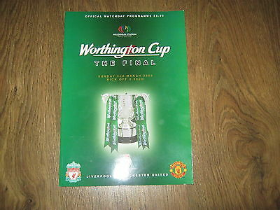LIVERPOOL v MANCHESTER UNITED WORTHINGTON CUP FINAL PROGRAMME