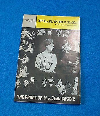 """Playbill """"The Prime of Miss Jean Brodie"""" 1968 Zoe Caldwell Helen Hayes Theatre"""