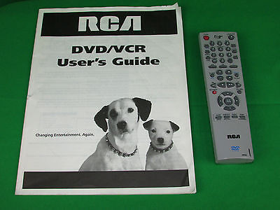 RCA 00058A Factory REMOTE CONTROL DVD/VCR Combo +User's Guide Manual