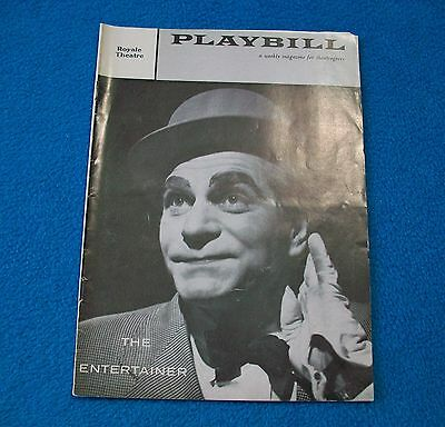 """Playbill """"The Entertainer"""" 1958 Laurence Olivier & Joan Plowright Royale Theatre"""