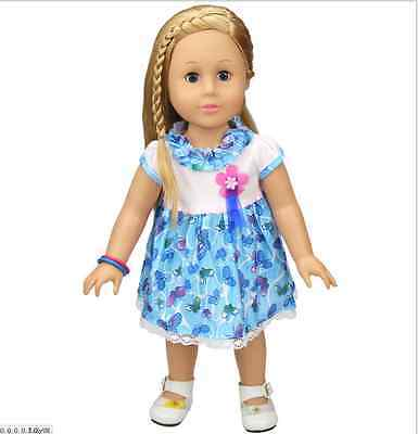 "Fits 18"" American Girl Madame Alexander Handmade Doll Clothes dress"