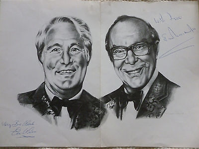Unusual Large Portrait of Morecambe and Wise - SIGNED