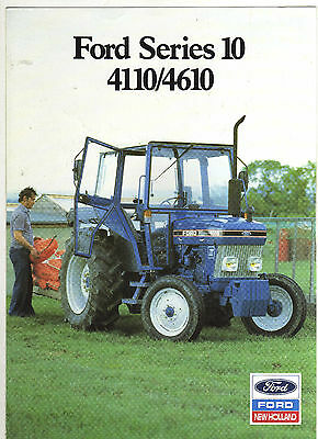 FORD 4110, 4610  FORCE 2 TRACTOR BROCHURE 80s FARM CLASSIC MODELS