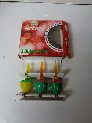 3 Vintage C-7 NOMA ELECTRIC CO Christmas Bubble Light in Original Box #96