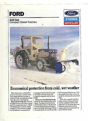 Ford Compact Series Soft Cab Tractor Sales Leaflet Brochure Farm Classic