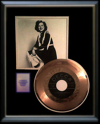 Patsy Cline Gold Record Walking After Midniight 45 Rpm Rare Decca Black Label
