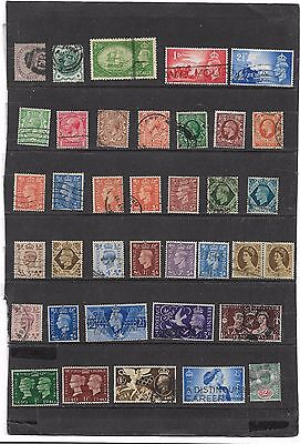 GREAT BRITAIN QUEEN VICTORIA TO GEORGE 6th STAMPS GOOD MIXTURE USED COLLECTION