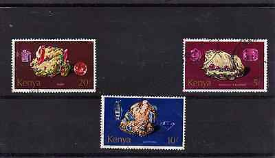 Kenya - 1977 Minerals - 3 high values - 5, 10 and 20 shillings SG118-120 Used