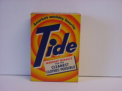 Vintage Tide Laundry Detergent Full Unopened Box America's Washday Favorite