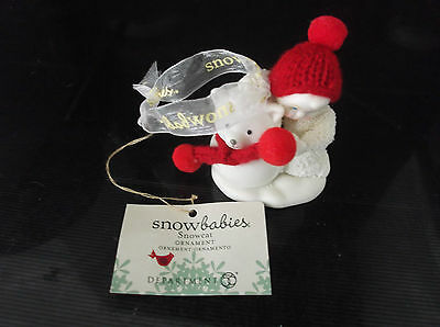 Snowbabies Snowcat Christmas Hanging Ornament new with tags attached