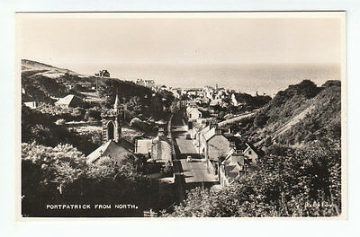 Portpatrick Village Wigtown 1952 Real Photograph Valentines B6413 Scotland