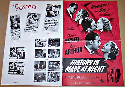 History Is Made At Night * Charles Boyer & Jean Arthur Original Pressbook