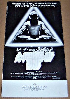 A Force Of One (1978) Chuck Norris Classic * Orig Pressbook !