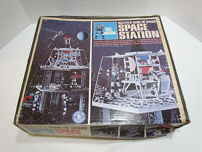 MAJOR MATT MASON SPACE STATION PLAYSET 1966 W/ BOX by MATTEL ~NOT COMPLETE AS-IS