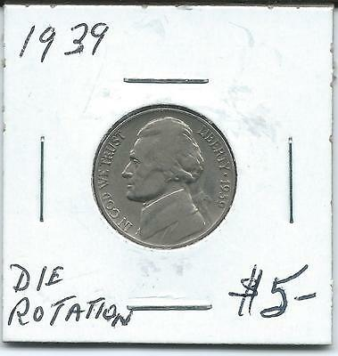 USA 1939 5 Cents Die Rotation