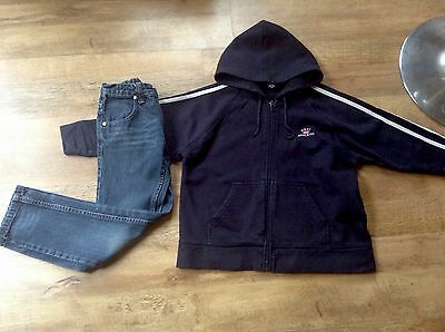 Next navy blue hoodie and st george by Duffer skinny jeans age 7& 8 years
