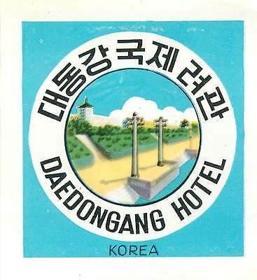 Korea Daedngang Hotel Great Old Luggage Label