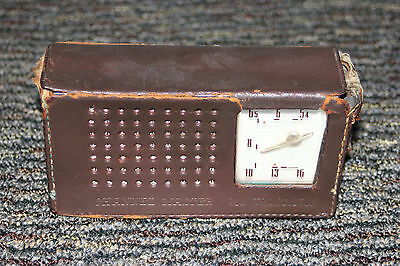 Vintage Channel Master Transistor Radio  With Leather Case