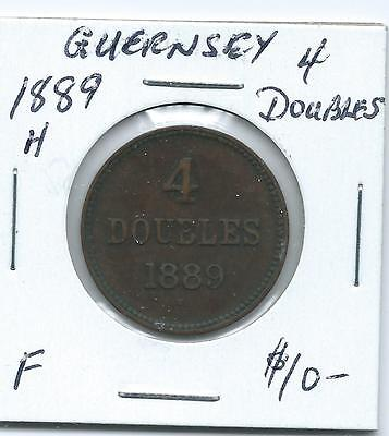 Guernsey 1889H 4 Doubles