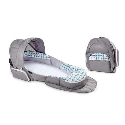 New Baby Delight Snuggle Nest Traveler Baby Lounge Infant Sleeper - Silver