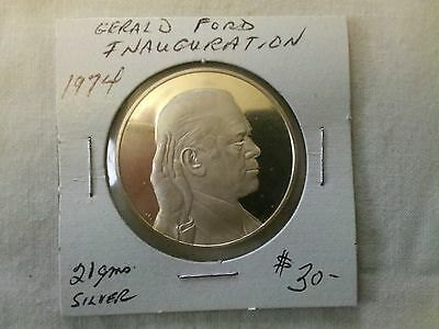 1974 Gerald Ford Inauguration Medallion Silver