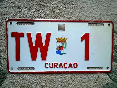 CURACAO License Plate Tag 1996-2004  TW-1