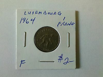 Luxembourg 1964 1 Franc