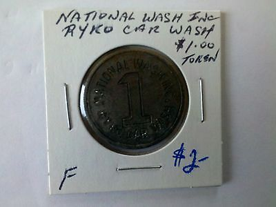 National Car Wash, $1.00 Ryco Wash Token