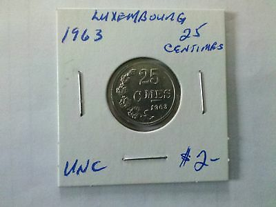 Luxembourg 1963 25 Centimes