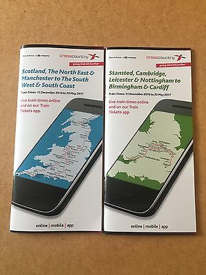 Cross Country Trains,  Timetable Guides, December 2016