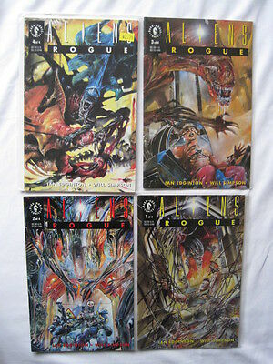 """ALIENS : """"ROGUE"""" - CLASSIC COMPLETE 4 ISSUE SERIES. Dark HORSE.1993"""