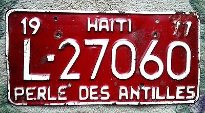 HAITI License Plate Tag - 1977 - LOW SHIPPING - Caribbean