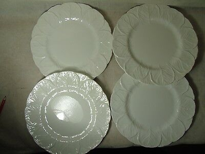 """4 x Coalport Countryware Cabbage Leaf Scalloped Large Dinner Steak Plates 10.75"""""""