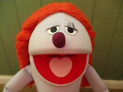 VINTAGE MUPPET SESAME STREET PUPPET LARGE GIRL WITH ORANGE HAIR CHARACTER 70's