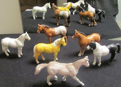 Vintage Figures Lot Funrise Hard Rubber Toy Horses Clydesdale Palumino.arabian