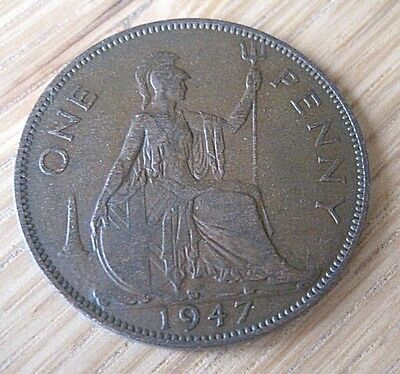 70th BIRTHDAY THIS YEAR?  A NICE INEXPENSIVE MEMENTO:  GEORGE VI PENNY 1947