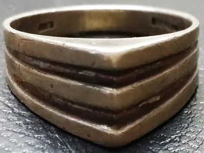 Vintage Sterling Silver Men's Size 6.5 Ring - Mid Century - 3.53g