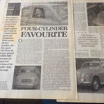 ROVER 60  P4  1957  ARTICLE  1997  ~RovP4601
