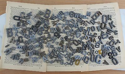 Large Lot of Vintage Industrial Solid Metal Letters Salvaged Metal Sign Letters
