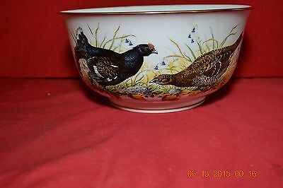 Franklin Mint Porcelain Signed The Game Bird Bowl 1981