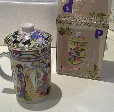 Chinese tea mug tea cup with lid boxed new