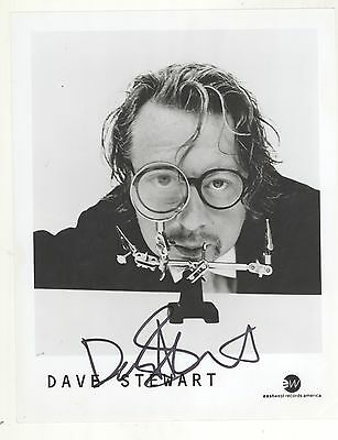 Dave Stewart SIGNED 8x10 B&W Press Photo! Promo Press Kit Photo! The Eurythmics