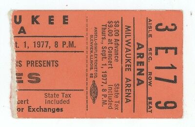 RARE Yes the band 9/1/77 Milwaukee WI Arena Concert Ticket Stub!